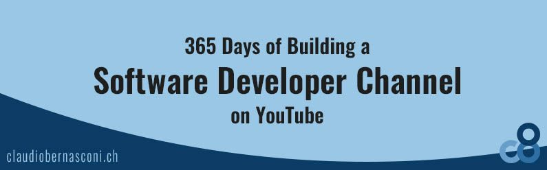 365 Days of Building a Software Developer Channel on YouTube