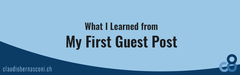 What I Learned from My First Guest Post